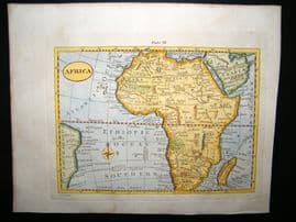 Africa C1790 Antique Hand Colored Map