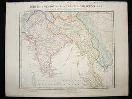 Africa & India: 1864 Antique Map, Aaron Arrowsmith