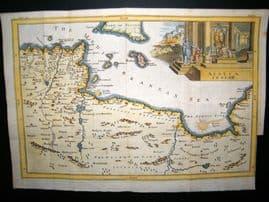 Africa Proper C1750 Hand Col Antique Map