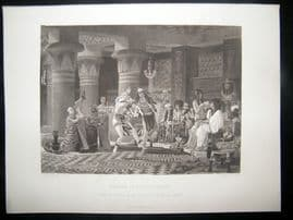 After Alma-Tadema 1874 Antique Print, Pastime in Ancient Egypt, Art Journal