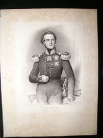 After Joseph Stieler C1840 LG Folio Print. Frirdrich August, King of Saxony