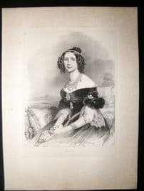 After Joseph Stieler C1840 LG Folio Print. Maria Anna of Bavaria & Saxony
