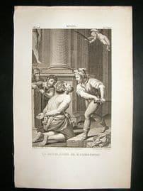 After Spada C1810 Antique Print. La Decolation De St. Christophe
