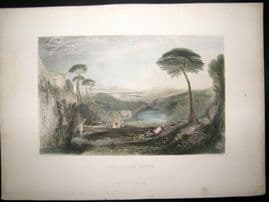 After Turner 1860 Hand Col Antique Print, The Golden Brough