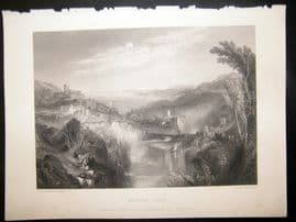 After Turner 1861 Antique Print, Modern Italy, Art Journal