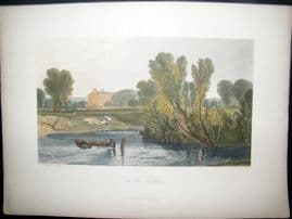 After Turner 1879 Folio Hand Col Print. On the Thames, UK