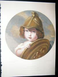 After Winterhalter 1863 Hand Col Art Journal Print. The Amazon, Children