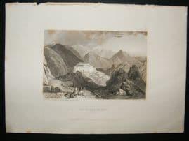Albania: 1834 Steel Engraving, Rocks of Suli Print