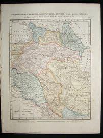 Albania, Armenia, Syria, etc: 1864 Antique Map, Aaron Arrowsmith