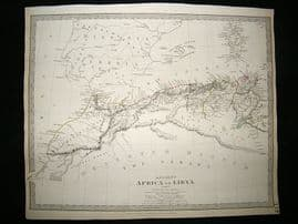 Ancient Africa or Libya: 1840 Antique Map. SDUK