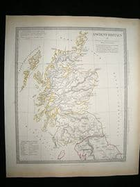 Ancient Britain: 1834 Antique Map. SDUK