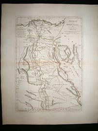 Ancient & Modern Egypt 1794 Antique Map. Samuel Dunn, Laurie & Whittle