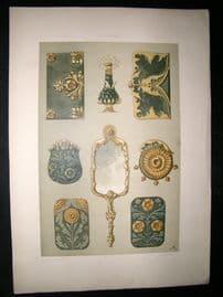 Anton Seder 1890 Folio Decorative Art Nouveau Botanical Design Print 100