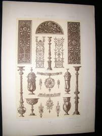 Anton Seder 1890 Folio Decorative Art Nouveau Botanical Design Print 45