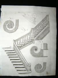 Architecture C1790 Antique Print. Staircase 46