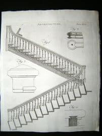 Architecture C1790 Antique Print. Staircase 65