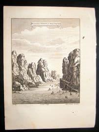 Astley C1750 Antique Print. Mountains & Straits, Sang Wan Hab, China