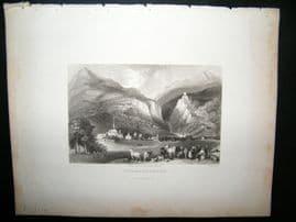 Austria 1836 Antique Print. Schlanerberg