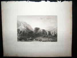 Austria 1836 Antique Print. Zoebenberg-Stein