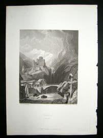 Austria 1838 Steel Engraving. Landech