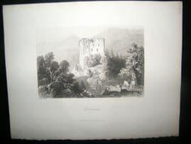 Austria 1847 Antique Print. Merkenstein