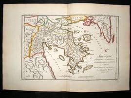 Barthelemy 1790 Antique Map Argolis, Greece