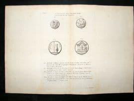 Barthelemy 1790 Antique Map, Greek Medallions