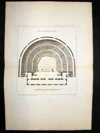 Barthelemy 1790 Antique Map, Greek Theatre