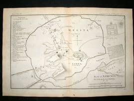 Barthelemy 1790 Antique Plan, Athens, Greece