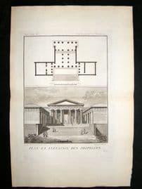 Barthelemy 1790 Antique Plan of a Propylaea