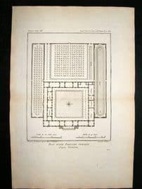 Barthelemy 1790 Antique Plan, Palaestra, Greece