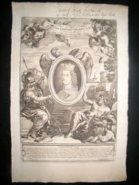 Bartoli 1690 Folio Roman Architectural Print. Classical Engraved Frontis.