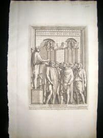 Bartoli 1690 Folio Roman Architectural Print. Relief 24