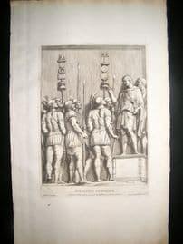 Bartoli 1690 Folio Roman Architectural Print. Relief 26