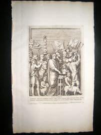 Bartoli 1690 Folio Roman Architectural Print. Relief 27