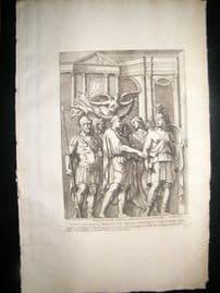 Bartoli 1690 Folio Roman Architectural Print. Relief 28