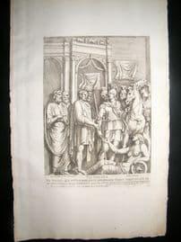 Bartoli 1690 Folio Roman Architectural Print. Relief 29