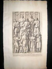 Bartoli 1690 Folio Roman Architectural Print. Relief 30
