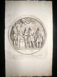Bartoli 1690 Folio Roman Architectural Print. Relief 33