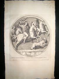 Bartoli 1690 Folio Roman Architectural Print. Relief 34
