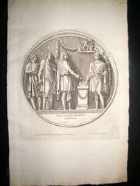 Bartoli 1690 Folio Roman Architectural Print. Relief 39