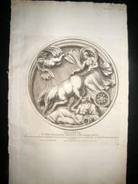 Bartoli 1690 Folio Roman Architectural Print. Relief 41