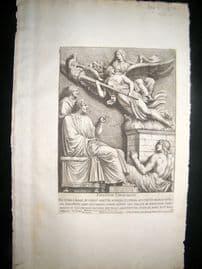 Bartoli 1690 Folio Roman Architectural Print. Relief 49