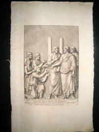 Bartoli 1690 Folio Roman Architectural Print. Relief 51