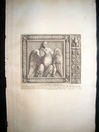 Bartoli 1690 Folio Roman Architectural Print. Relief 8