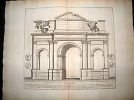 Bartoli 1690 LG Folio Roman Architectural Print. Arcus Gallieni 22