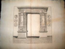 Bartoli 1690 LG Folio Roman Architectural Print. Arcus Septimii 20