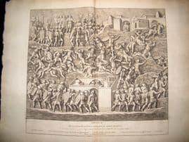 Bartoli 1690 LG Folio Roman Architectural Print. Relief 10