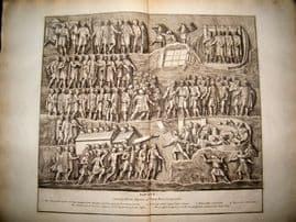 Bartoli 1690 LG Folio Roman Architectural Print. Relief 11