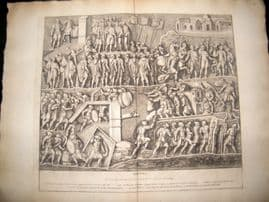 Bartoli 1690 LG Folio Roman Architectural Print. Relief 12